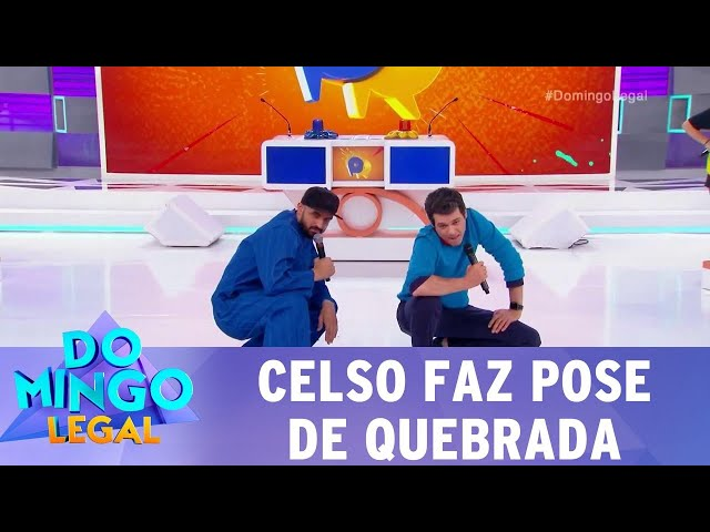 Celso faz pose de quebrada  | Domingo Legal (10/03/19)