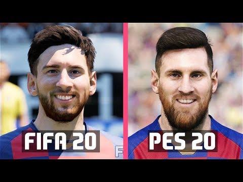 FIFA 20 vs PES 2020 | FC Barcelona Faces Comparison