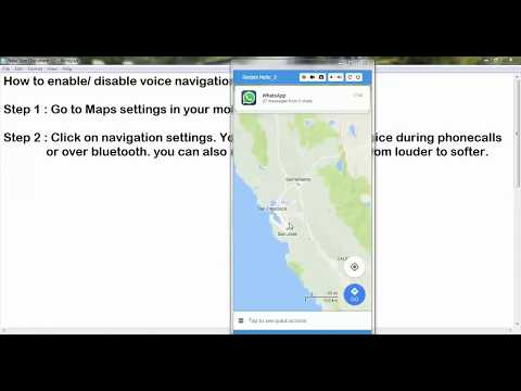 How to enable or disable voice navigation in google maps