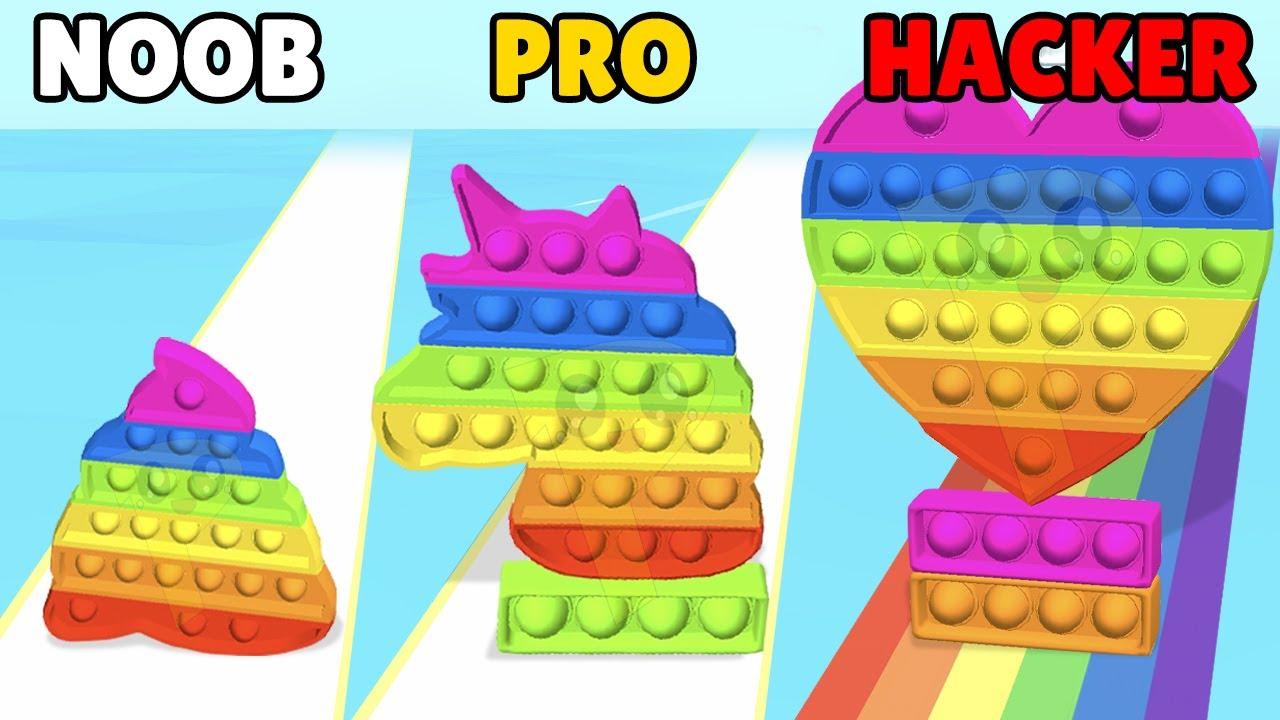 NOOB vs PRO vs HACKER in Fidget Rush