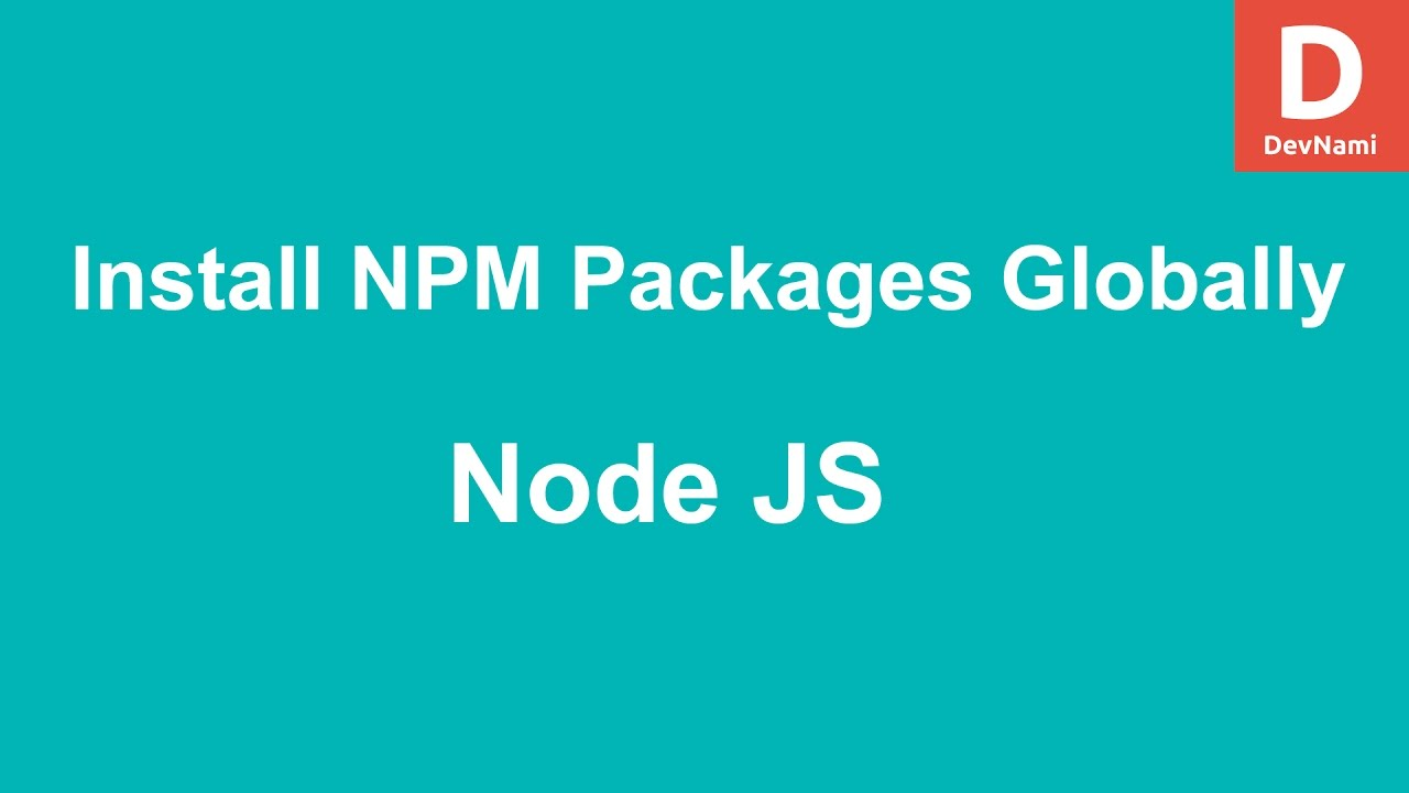 npm install global not working windows
