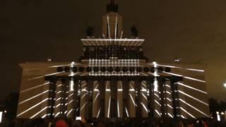 """Фестиваль """"Круг света"""" видеоинсталяция 1 (световое шоу/лазерное шоу) ВДНХ 2016"""