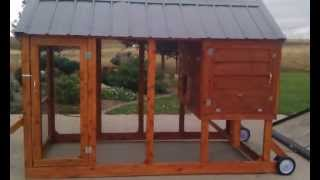 Cedar Chicken Coop Tractor