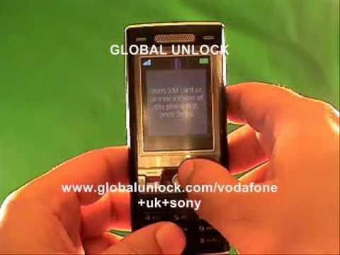 How To Unlock Any Vodafone UK Sony Ericsson
