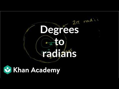 Example: Converting degrees to radians | Trigonometry | Khan Academy