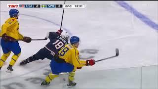 Quinn Hughes #24 3A vs Sweden Summer Showcase 8/2/2018