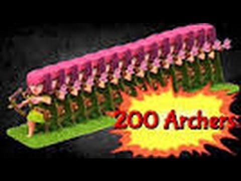 CLASH OF CLANS: MASS ARCHER RAID-GETTING TH 10!!!!!
