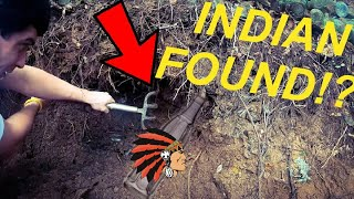 WE DUG UP AN INDIAN WHILE BOTTLE DIGGING!!!! COCA-COLA TREASURE HUNT!!!