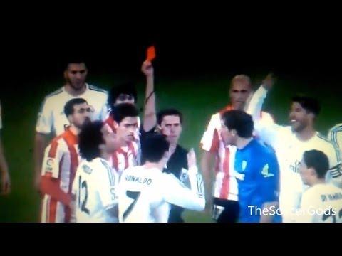 Cristiano Ronaldo Red Card VS Altletic Bilbao