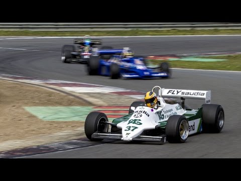 Classic DFV F1 races - incl engine revving (Zolder 2016)