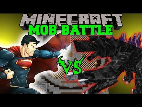 MOBZILLA VS SUPERMAN - Minecraft Mod Battles - Mob Battles - Superheroes Unlimited Mods