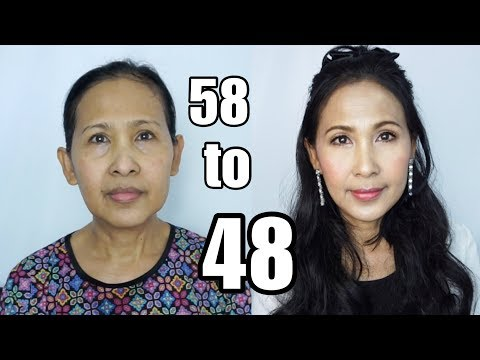 10 Years Younger Makeup [ENG Cc] แต่งหน้าแม่ลดอายุ 10 ปี !!!