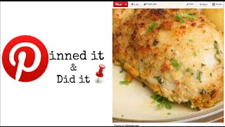 Baked Garlic Parmesan Chicken--pinned It & Did It