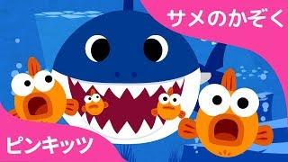 サメのかぞく | ちびサメ | Baby Shark 日本語 | どうぶつのうた | ピンクフォン童謡 thumbnail