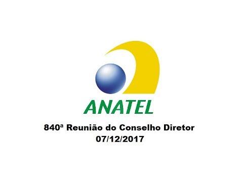 840ª Reunião do Conselho Diretor, 07/12/2017