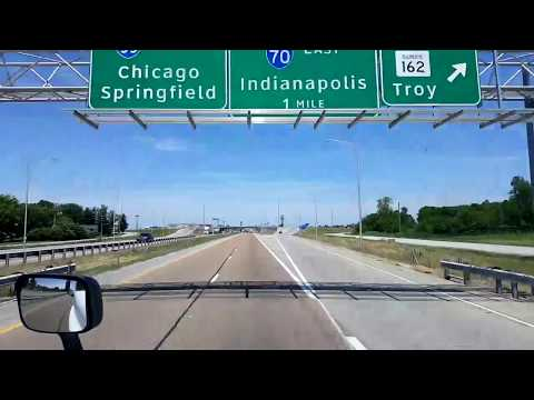 Bigrigtravels Live! East St Louis to Effingham,  Illinois on Interstate 70 June 24, 2016