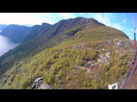 Paragliding aurland Norway Nice place