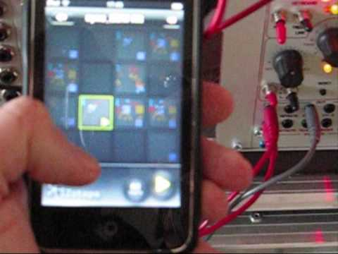 iclick how to synchronize your modular synthesizer with your ipad ipod or iphone using idrum. Black Bedroom Furniture Sets. Home Design Ideas