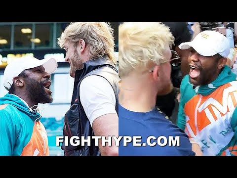 HIGHLIGHTS | MAYWEATHER VS. LOGAN PAUL PRESS CONFERENCE & BRAWL WITH JAKE PAUL