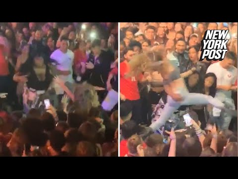Hair pulled and punches thrown during rap concert