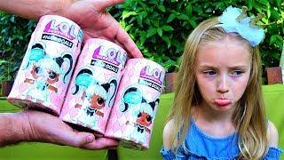 LOL Surprise HairGoals подарок от папы. Полина потеряла новую куклу ЛОЛ
