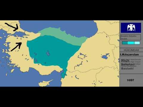Anadolu Selçuklu Devleti/Anatolia Seljuks Empire/Rise And Fall/Harita