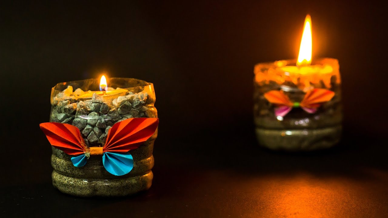 Waste Material Craft Ideas Candle Holder