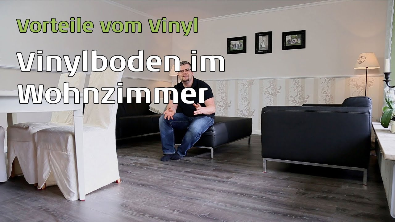 vinylboden im wohnzimmer youtube. Black Bedroom Furniture Sets. Home Design Ideas