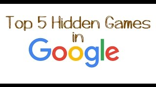 Top 5 hidden games in GOOGLE in Telugu | Episode 2
