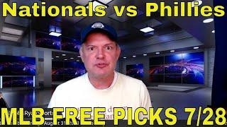 MLB Picks and Predictions | Nationals vs Phillies Betting Preview | Predictive Playbook | July 28