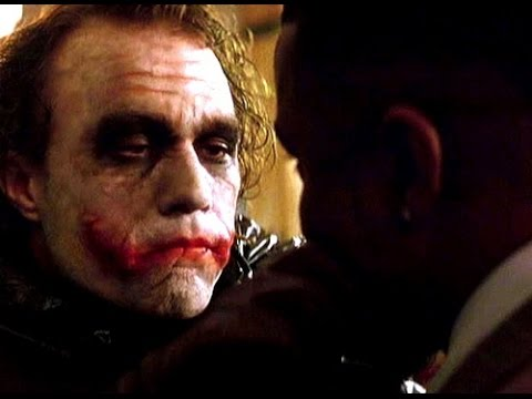 "THE DARK KNIGHT: ""Wanna know how I got these scars?"" - Gamble"