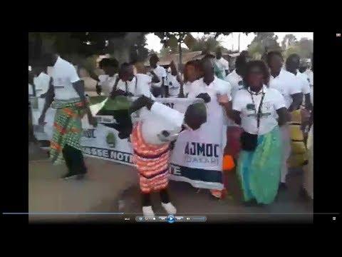 Ambiance de feu à Dakar par les étudiants culture manjak