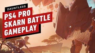 Dauntless PS4 Pro Skarn Battle Gameplay
