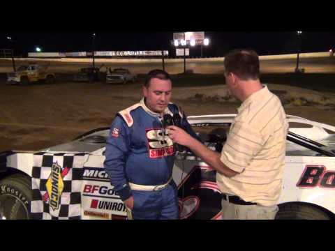 Wes Bonebrake in victory lane at Path Valley Speedway 7-31-15