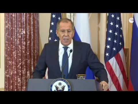 Пресс-конференция Лаврова и Помпео после встречи в Вашингтоне
