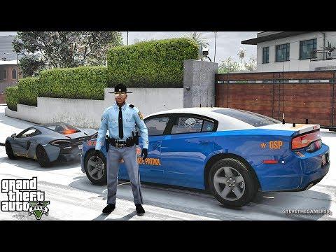 GTA 5 MOD LSPDFR 692 - GSP PATROL!! (GTA 5 REAL LIFE PC MOD)