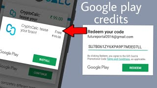 Play store redeem CODE and download paid apps for free