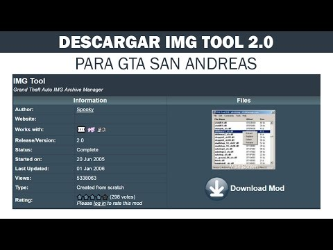 Cómo Descargar Y Utilizar Img Tool 2.0 Para GTA San Andreas