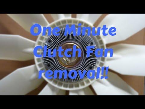 One minute clutch fan removal! Sprinter clutch fan removal