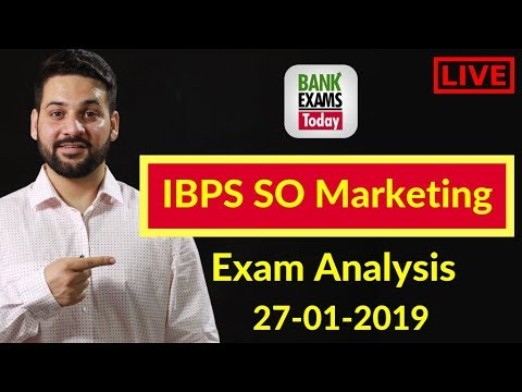 IBPS SO Marketing Officer Scale 1