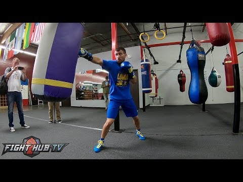 BEAUTIFUL FOOT WORK! VASYL LOMACHENKO - HEAVY BAG WORKOUT - GO PRO VIDEO
