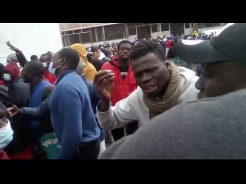 Incidentes y denuncias en el interior del campamento para inmigrantes Las Raíces (La Laguna) Tenerif
