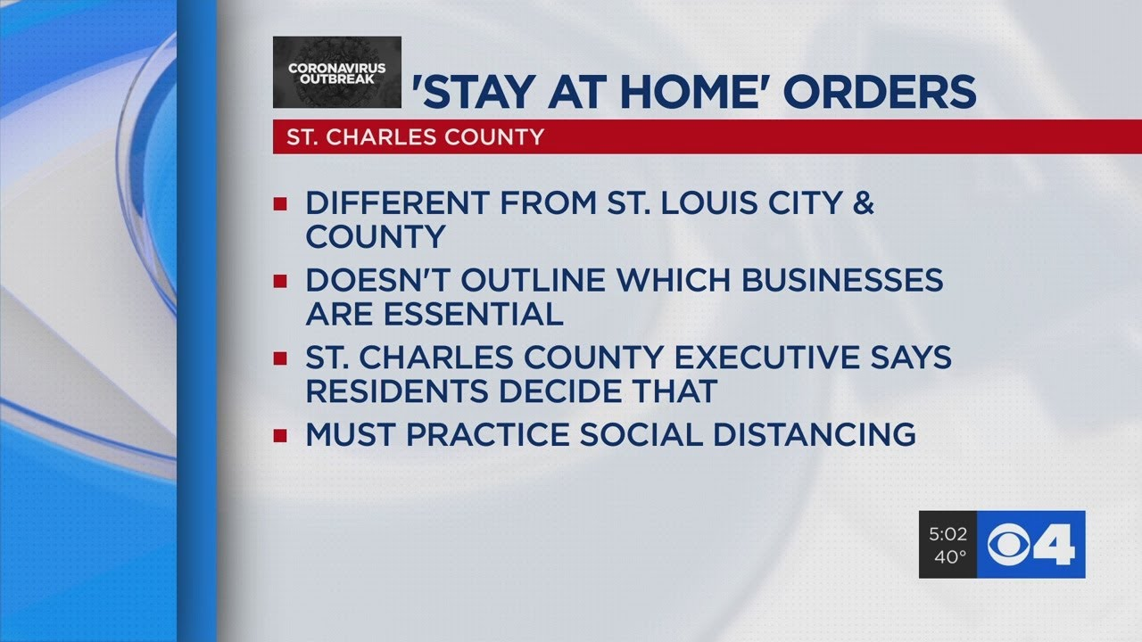 Stay At Home Order In Effect For St Charles County Youtube