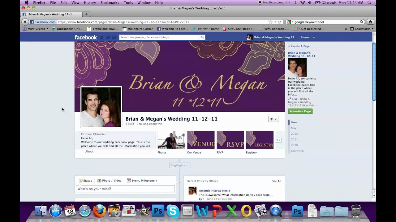 Getting started creating a wedding facebook pagev youtube stopboris Gallery