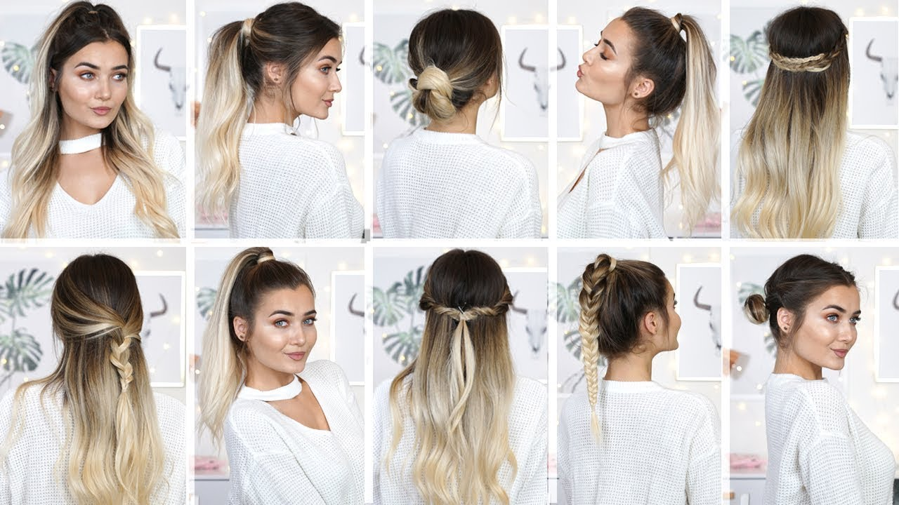10 EASY HEATLESS BACK TO SCHOOL HAIRSTYLES! - YouTube
