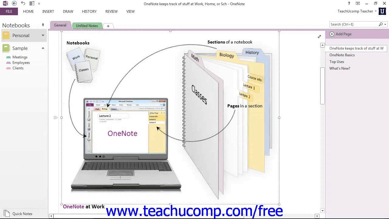 onenote 2013 tutorial the onenote environment microsoft training