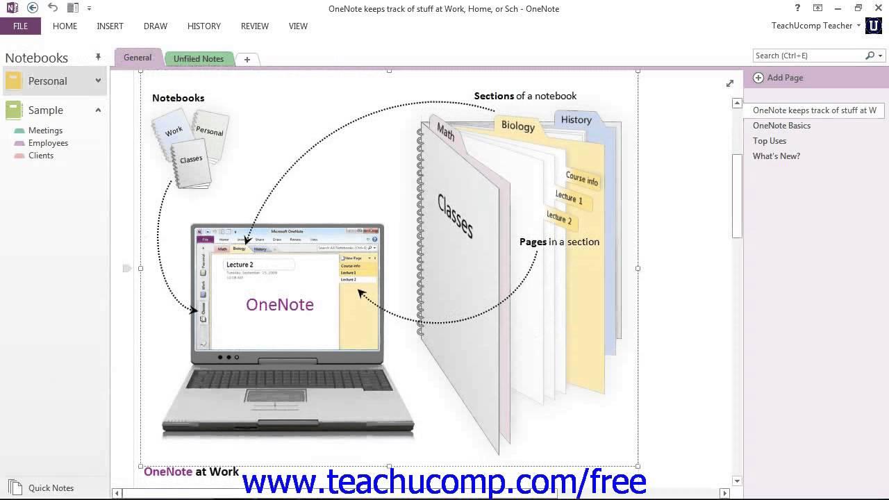 onenote 2013 tutorial the onenote environment microsoft training