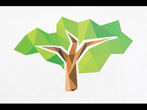 how to create a logo design in adobe illustrator cc with 3D polygon styles | Professional Logo