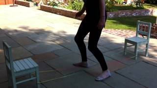 Elastics / French Skipping / Chinese / Yorkshire 1980s / playground games / keep fit