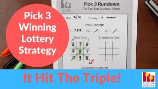 Lottery Strategy Wins With Pick 3 Triple! Illinois Lottery Won With 888!